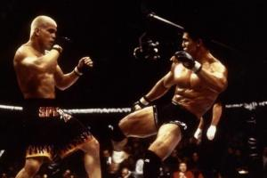 Frank Shamrock clinches with Tito Ortiz