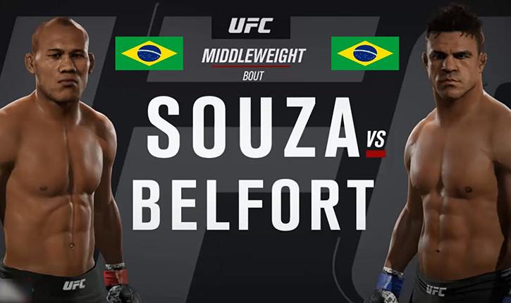 Jacare Souza Vs Vitor Belfort Fight Poster.