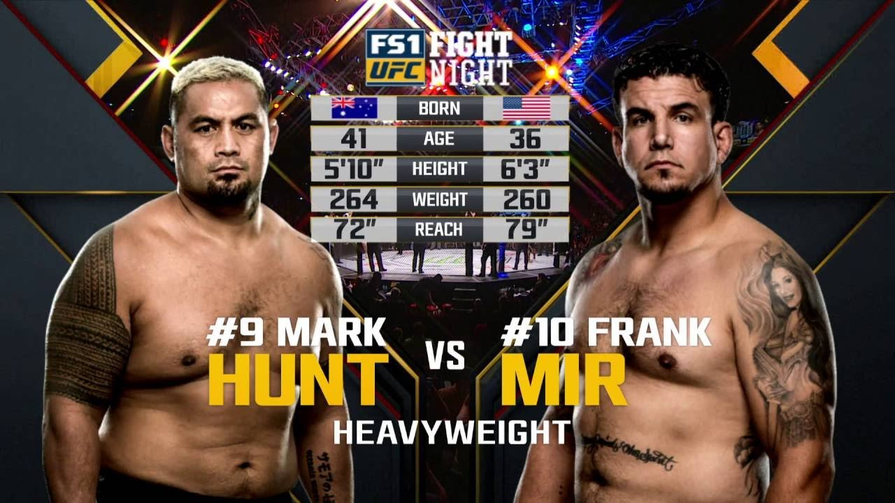 UFC Fight Night 85 Mark hunt vs Frank Mir UFC fight.