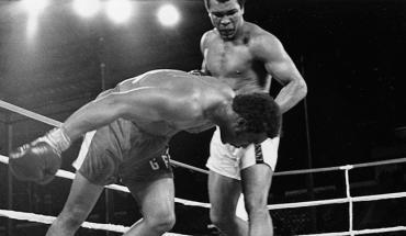 Muhammad Ali against Foreman 1974 Rumble in the Jungle.
