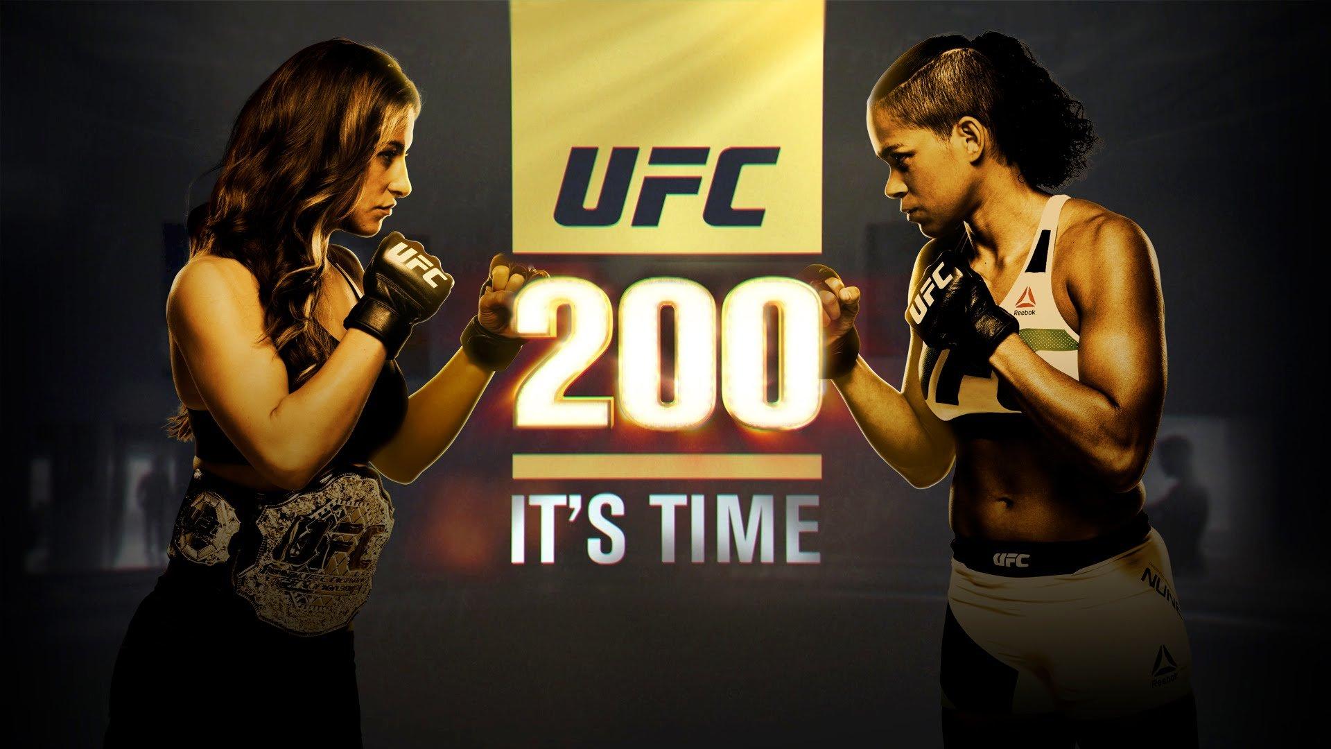 UFC 200 Miesha Tate vs Amanda Nunes poster.