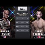 UFC 189 Robbie Lawler vs Rory MacDonald fight graphic.