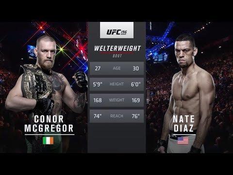 Conor Mcgregor Against Nate Diaz 1 Ufc 196.