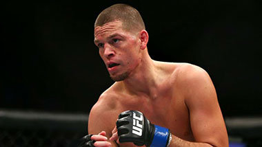 Nate Diaz inside the octagon UFC 196.