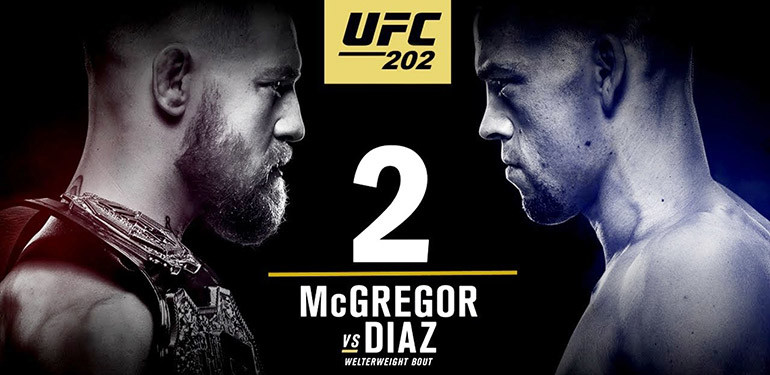 UFC 202 Nate Diaz vs Conor mcgregor 2 poster.