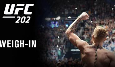 UFC 202 official weigh-in live from Las Vegas.