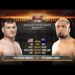 Free fight Stipe Miocic vs Mark Hunt.