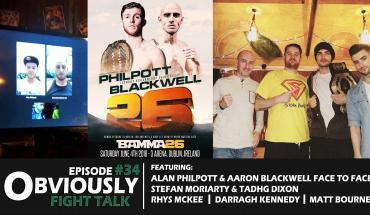 BAMMA 26 special. They welcomed in Alan Philpott and Aaron Blackwell.