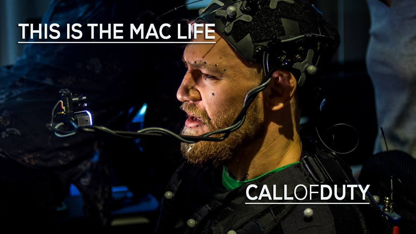 Conor McGregor on set for Call of Duty.