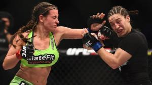 After a rough start, Miesha Tate begins to rally against Sara McMann.