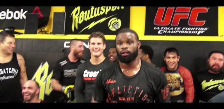 UFC 205: Tyron Woodley trains at Roufusport.