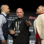 Conor McGregor vs Eddie Alvarez staredown.