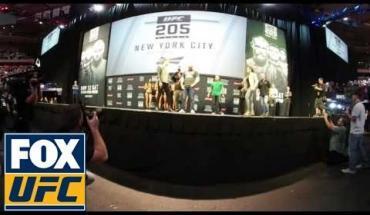 Amanda Nunes face to face Ronda Rousey