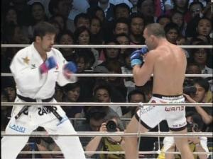 Silva And Yoshida In The Midst Of Their Classic Pride Middleweight Grand Prix Bout.