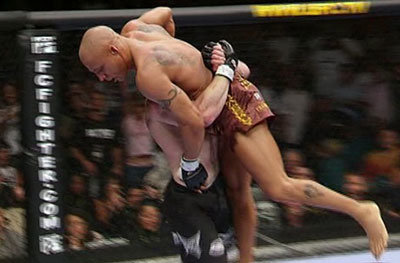 Matt Hughes picks up Frank Trigg at UFC 52.