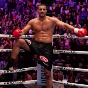 Badr Hari inside the K1 boxing ring.
