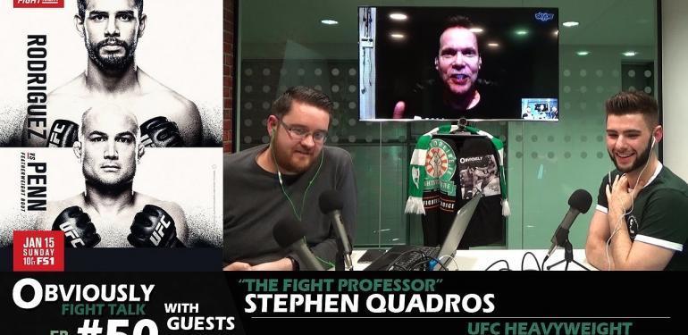 "Stephen ""The Fight Professor"" Quadros, Mark Godbeer."