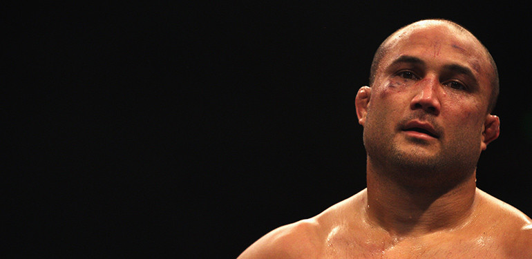 BJ Penn fighting in the UFC.