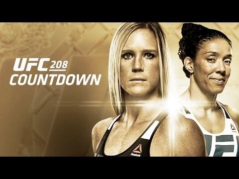 Former UFC champion Holly Holm & Dutch kickboxer Germaine de Randamie UFC 208 poster.