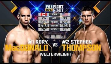 Stephen Thompson vs Rory MacDonald.