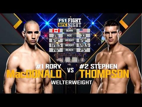 Stephen Thompson vs Rory MacDonald UFC Ottawa.