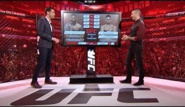 UFC 209 inside the octagon.