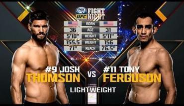 Tony Ferguson soundly defeats Josh Thomson.