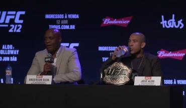 UFC 212 press conference Rio.