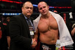 Fedor Emelianenko with Scott Coker Bellator.