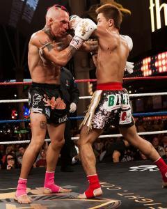 Some nasty muay thai elbows.