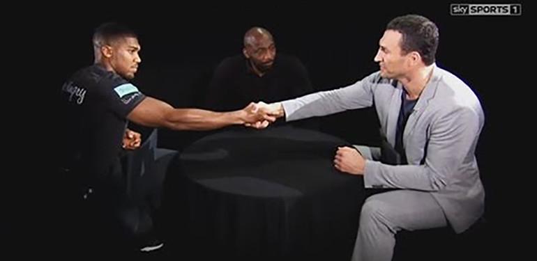 Anthony Joshua Faces Vladimir Klitschko.