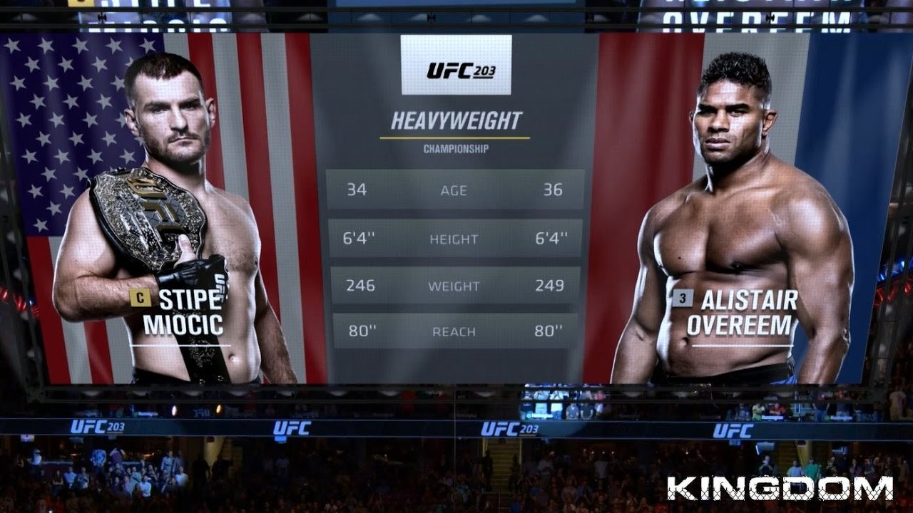Stipe Miocic and Alistair Overeem UFC 203 poster.