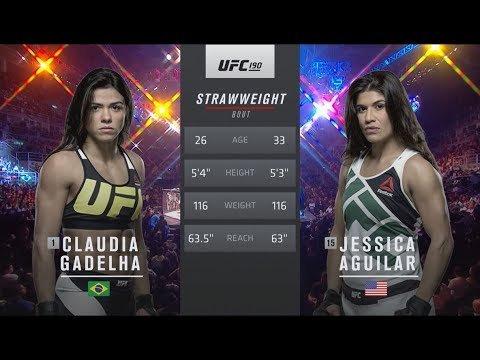 Claudia Gadelha victory over Jessica Aguilar at UFC 190.