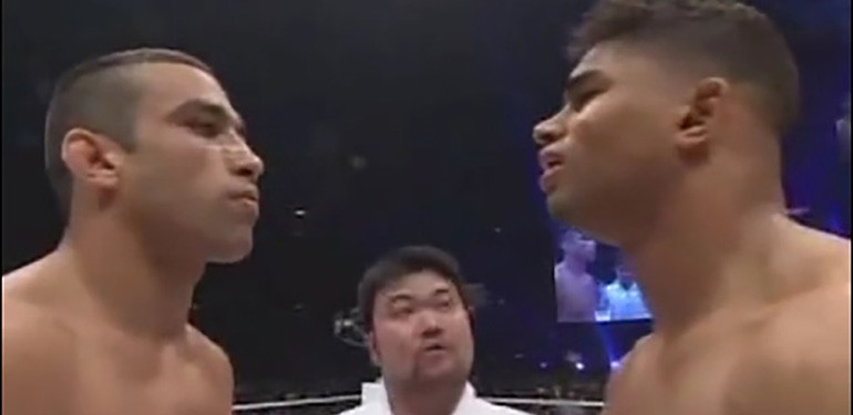 Alistair Overeem vs Fabricio Werdum Pride 2006 in the ring.