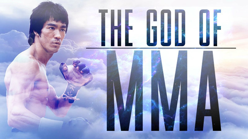 Bruce Lee mma god video poster.