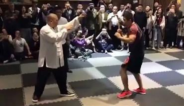 MMA fighter faces tai chi master.
