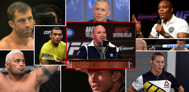 UFC fighters not happy with their contracts.