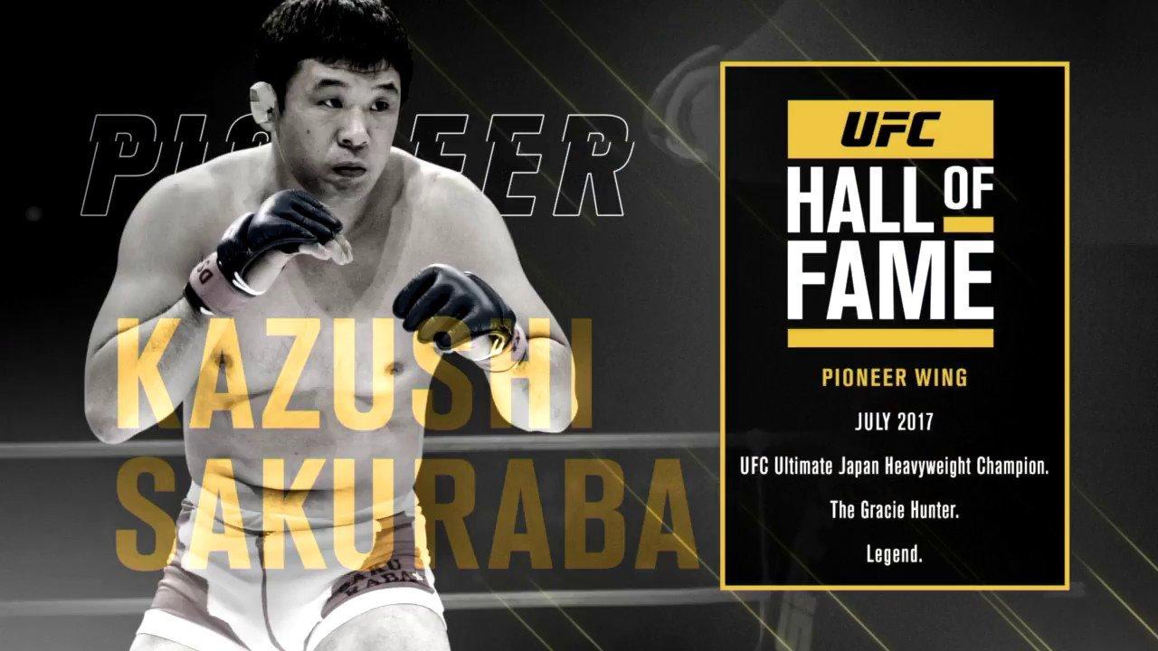 Kazushi Sakuraba Hall of Fame.