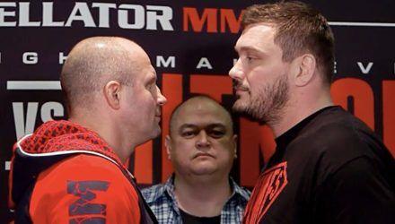 Fedor And Matt Mitrione Face Off.