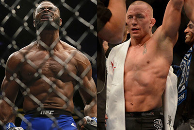 Tyron Woodley against Georges St Pierre.