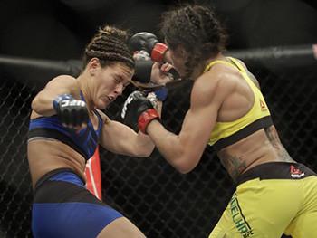 Claudia Gadelha beating Cortney Casey.