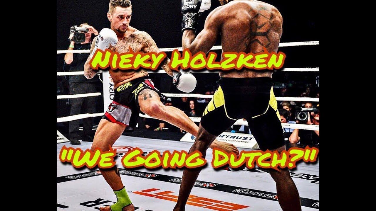 Nieky Holzken inside the ring fighting.