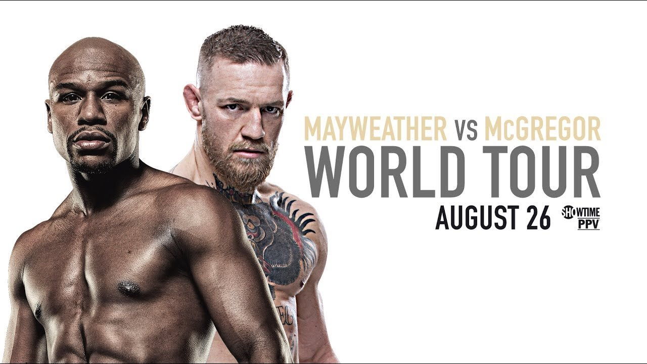Mayweather vs McGregor Toronto press conference.