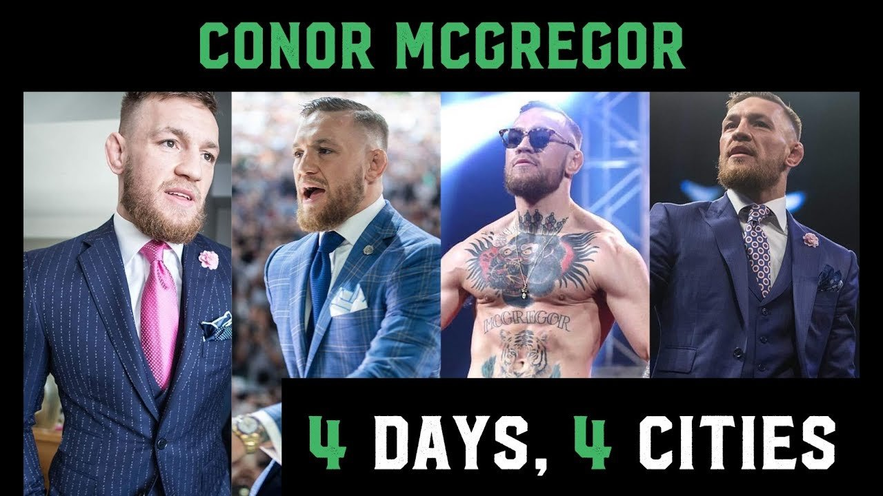 Conor McGregor and MayMac world tour team footage.