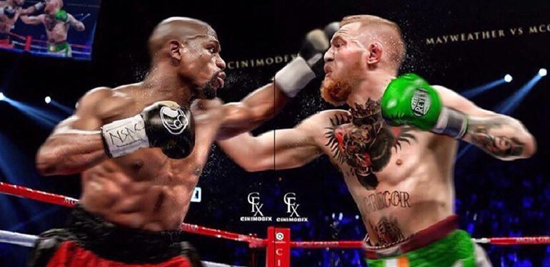 Floyd Mayweather vs Conor Mcgregor boxing.