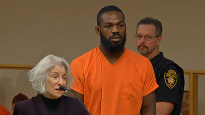 Jon jones US appears in court.