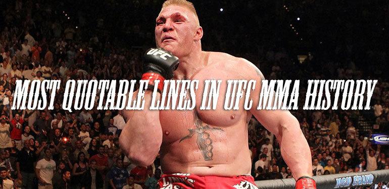 Quotable lines in UFC.