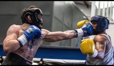 Conor McGregor sparring.
