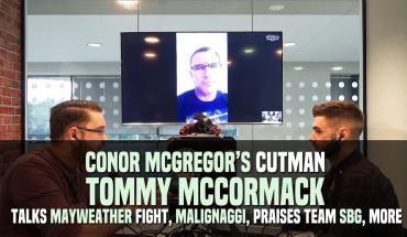 Conor McGregor cutman Tommy McCormack.