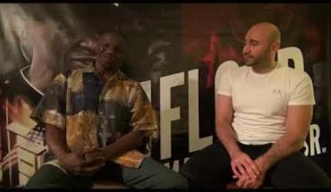 Floyd Mayweather Sr. talks with Amer Abdallah.